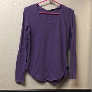 Lululemon purple love tee long sleeve Sz 6